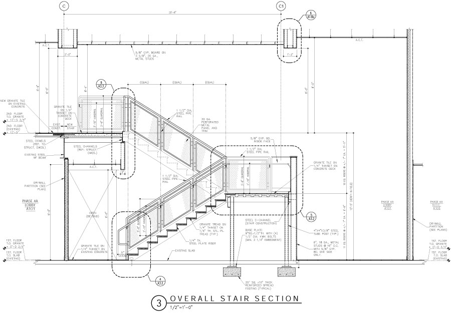 Production services wjg architects llc for Construction drawings and details for interiors
